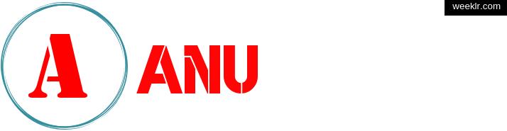 Write -Anu- name on logo photo