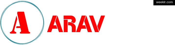 Write -Arav- name on logo photo