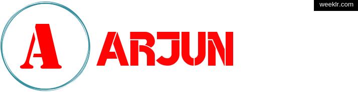 Write -Arjun- name on logo photo