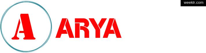 Write -Arya- name on logo photo