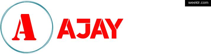 Write -Ajay- name on logo photo