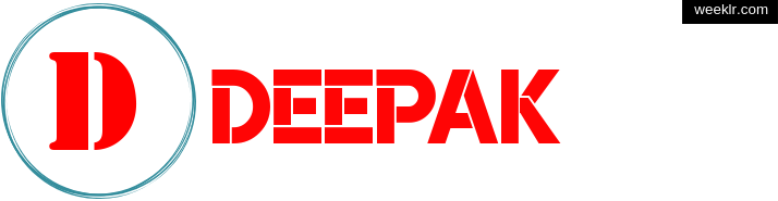 Write -Deepak- name on logo photo