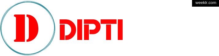 Write -Dipti- name on logo photo