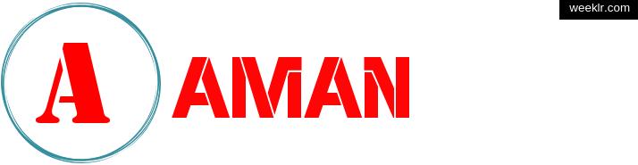 Write -Aman- name on logo photo
