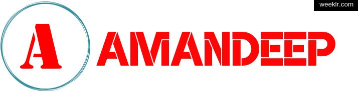 Write -Amandeep- name on logo photo