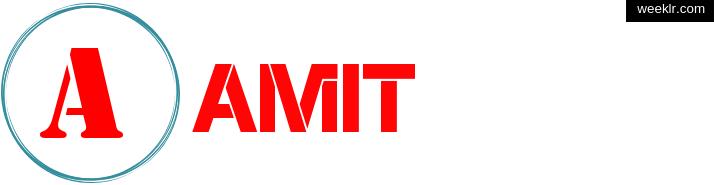 Write -Amit- name on logo photo