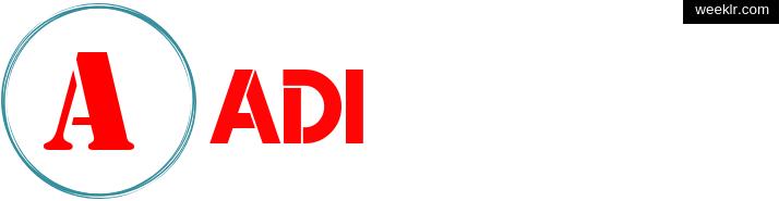Write -Adi- name on logo photo