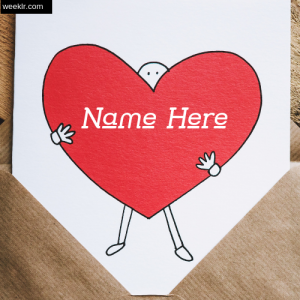 Write Name on Heart photo - Write lover name on heart image