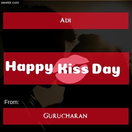 Write -Adi- and -Gurucharan- on kiss day Photo