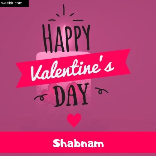 Write -Shabnam- Name on Happy Valentine Day Photo Card