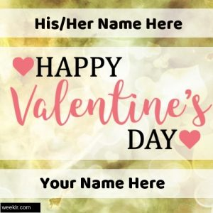 Write Your Name and Lover Name on Happy Valentine Day  Images